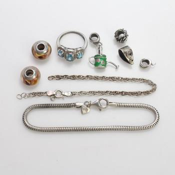 25.14g Silver Jewelry, 9 Pieces