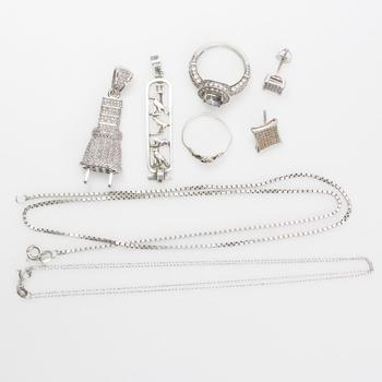25.20g Silver Jewelry, 8 Pieces