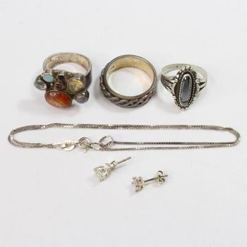25g Silver Jewelry, 6 Pieces