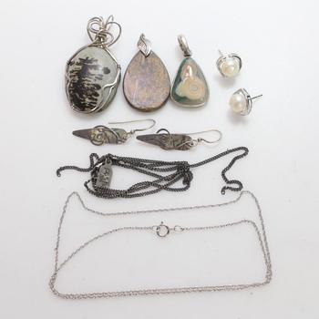 26.13g Silver Jewelry, 9 Pieces
