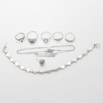 26.28g Silver Jewelry, 8 Pieces