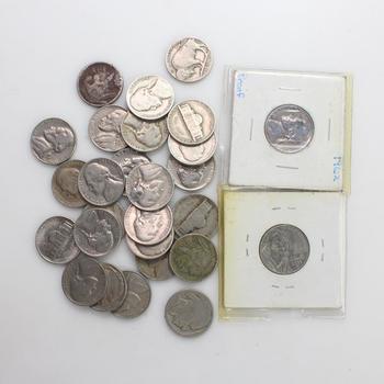 27 Buffalo And Jefferson Nickels