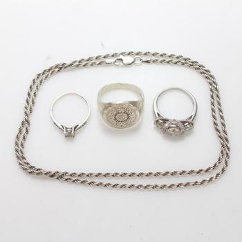 27.49g Silver Jewelry, 4 Pieces