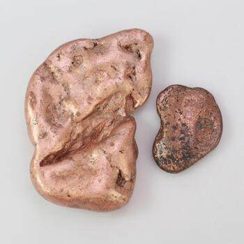 276.38g Melted Copper, 2 Pieces