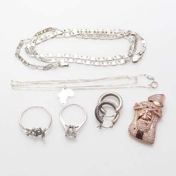 28.01g Silver Jewelry, 7 Pieces