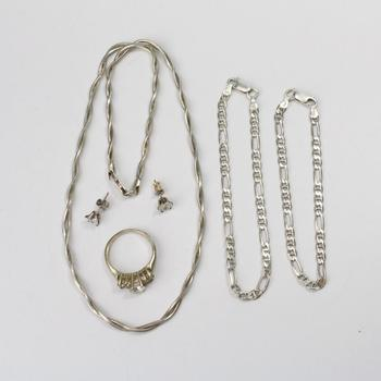 28.25g Silver Jewelry, 6 Pieces