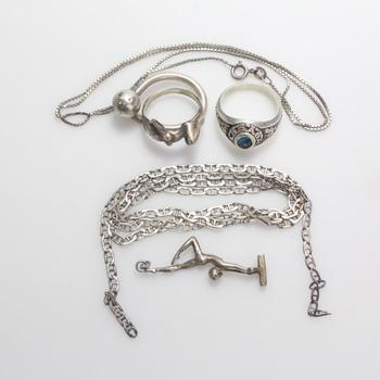 28.81g Silver Jewelry, 6 Pieces