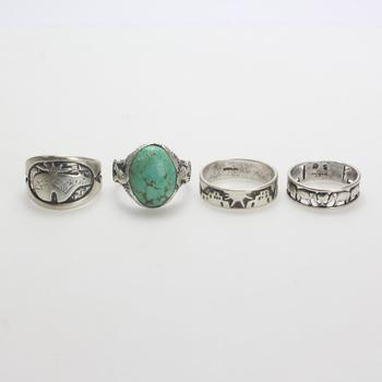28.86g Silver Jewelry, 4 Pieces