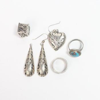 28g Silver Jewelry, 6 Pieces