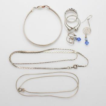 29.02g Silver Jewelry, 7 Pieces