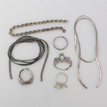 29.31g Silver Jewelry, 7 Pieces