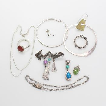 29.50g Silver Jewelry, 10 Pieces