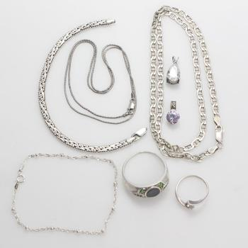 29.60g Silver Jewelry, 8 Pieces