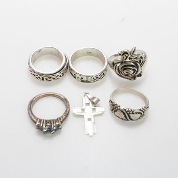 29.81g Silver Jewelry, 6 Pieces