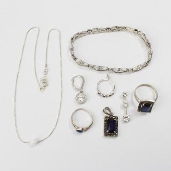 29.85g Silver Jewelry, 8 Pieces