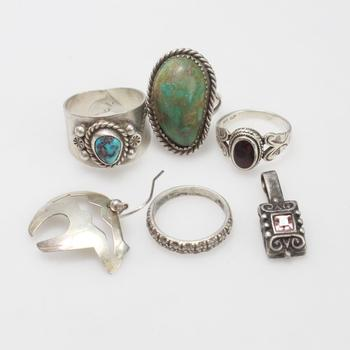 29.91g Silver Jewelry, 6 Pieces