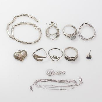 29g Silver Jewelry, 11 Pieces