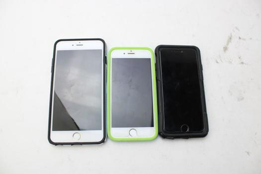 3 Assorted Apple Iphones; Sold For Parts