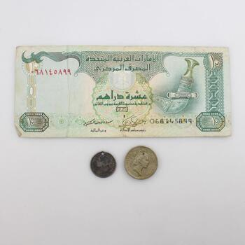 3 Foreign Coins And Currency