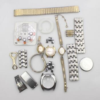 3 Mixed Watches And Watch Parts
