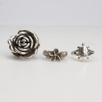3  Sterling Silver Rings