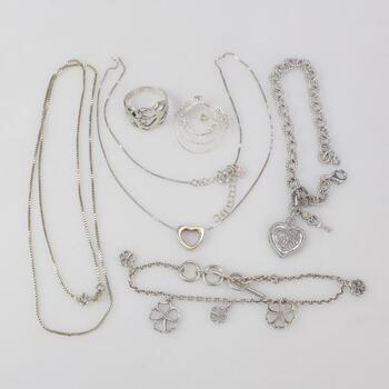 30.28g Silver Jewelry, 7 Pieces