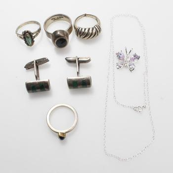 31.08g Silver Jewelry, 8 Pieces