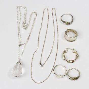 31.80g Silver Jewelry, 7 Pieces
