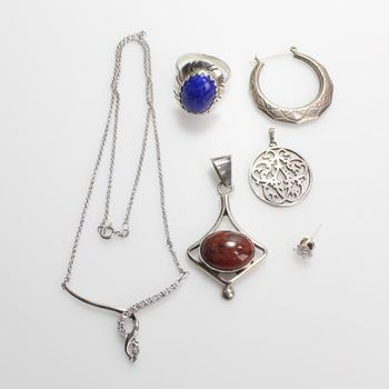 31.81g Silver Jewelry, 6 Pieces