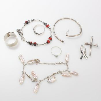 32.01g Silver Jewelry, 8 Pieces