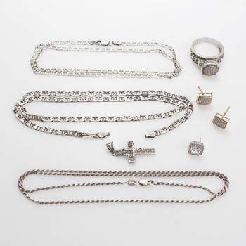 32.59g Silver Jewelry, 8 Pieces