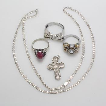 32.81g Silver Jewelry, 5 Pieces
