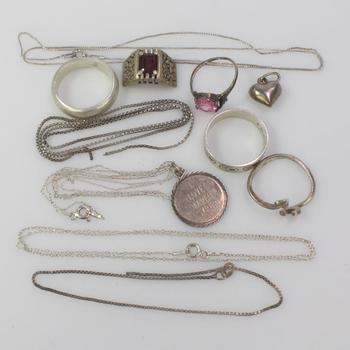33.04g Silver Jewelry, 12 Pieces