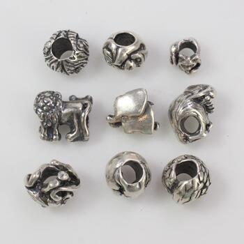 33.24g Silver Jewelry, 9 Pieces