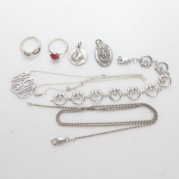 33.90g Silver Jewelry, 7 Pieces