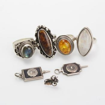34.24g Silver Jewelry, 7 Pieces