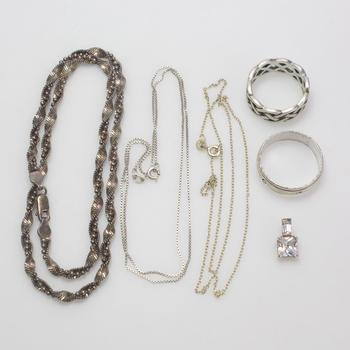 34.73g Silver Jewelry, 6 Pieces