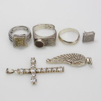 34.81g Silver Jewelry, 6 Pieces