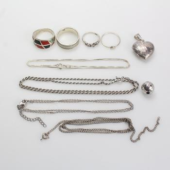 34.93g Silver Jewelry, 10 Pieces