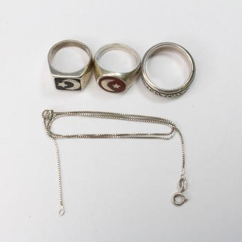 35.07g Silver Jewelry, 4 Pieces