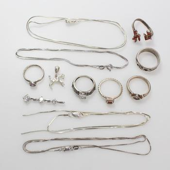 35.37g Silver Jewelry, 12 Pieces