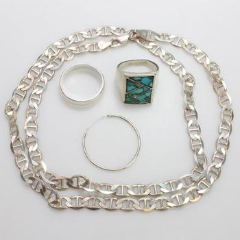35.69g Silver Jewelry, 4 Pieces