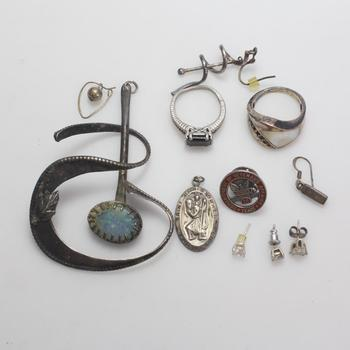 35.7g Silver Jewelry, 11 Pieces