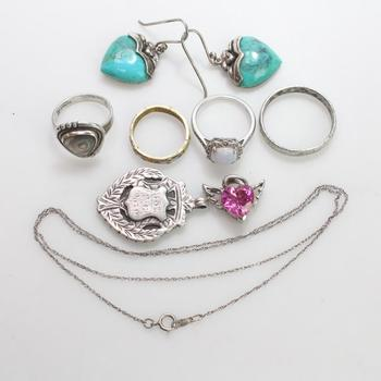 36.65g Silver Jewelry, 9 Pieces