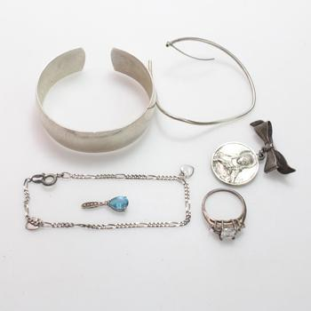 36.86g Silver Jewelry, 6 Pieces