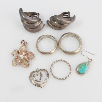 36.97g Silver Jewelry, 8 Pieces