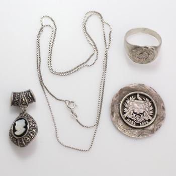 36g Silver Jewelry, 4 Pieces