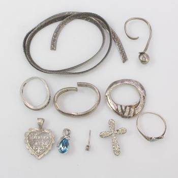 37.05g Silver Jewelry, 10 Pieces