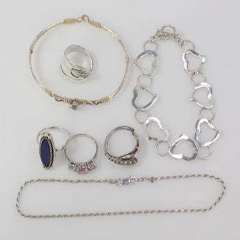 37.31g Silver Jewelry, 7 Pieces