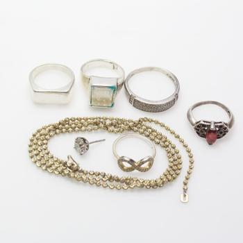 37.96g Silver Jewelry, 7 Pieces